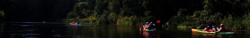 """Naktinis plaukimas baidarėmis Dzūkijoje- """"Dzūkijos uoga"""""""