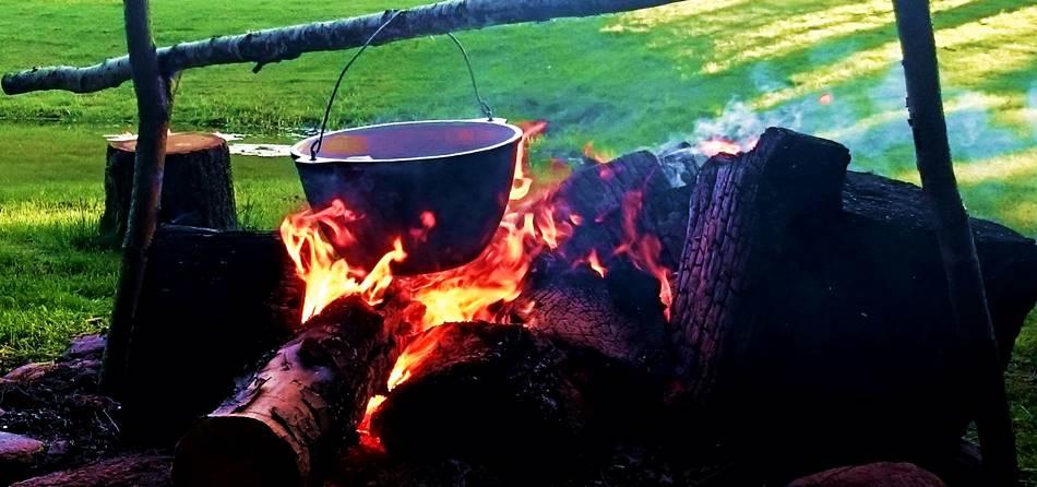 Национальные парки литвы - суп на костре