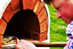 Photo: pizza in clay oven by Druskininkai - Dzukijos uoga