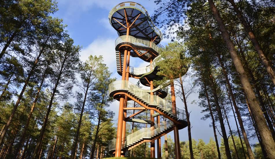Foto:Merkinės apžvalgos bokštas kviečia užsukti atostogaujančius Lietuvoje su vaikais - Dzūkijos uoga