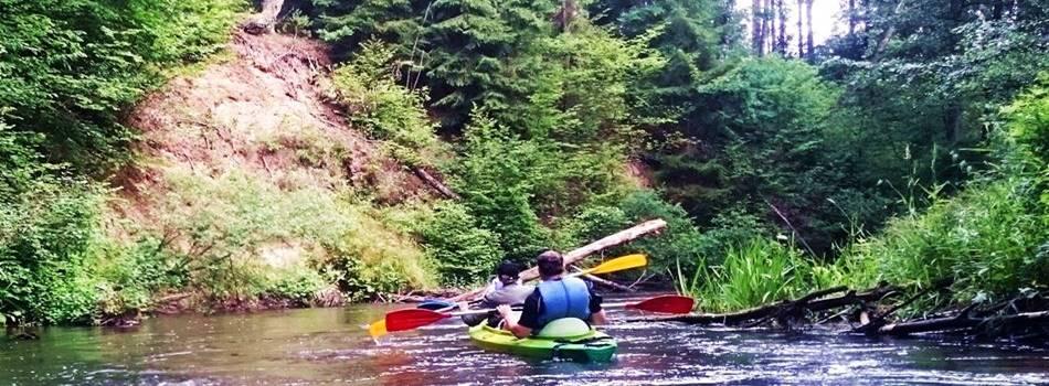 "Canoe tour in Druskininkai Lithuania - active outdoor attractions in villa ""Dzukijos uoga"""