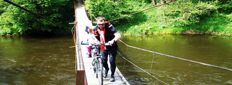 "Active attractions - bike tours in Lithuania by Druskininkai organized by villa ""Dzukijos uoga"""