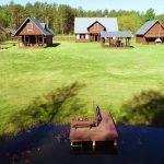 """בית נופש """"Dzukijos uoga"""" ביער ליד האגם ליד דרוסקינינקאי"""